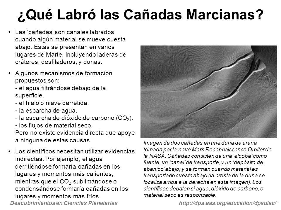 ¿Qué Labró las Cañadas Marcianas
