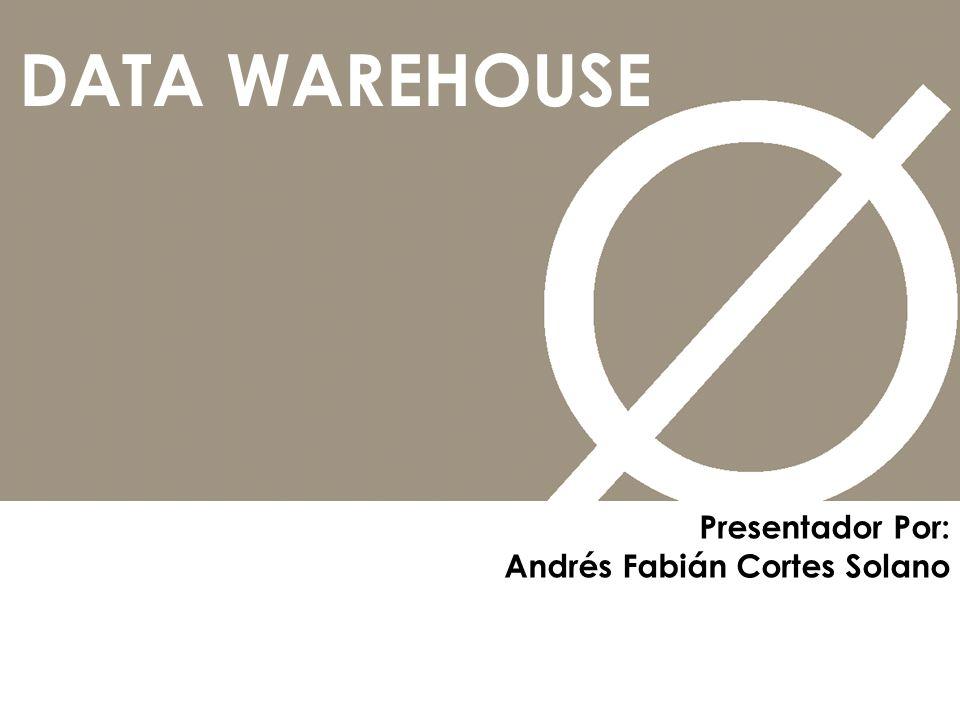 DATA WAREHOUSE Presentador Por: Andrés Fabián Cortes Solano