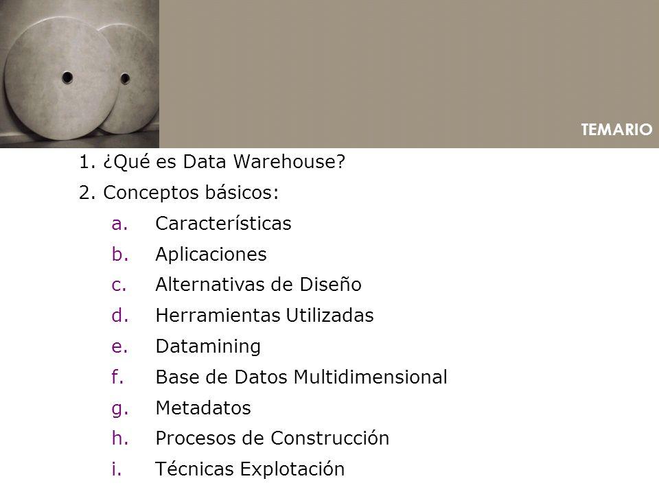 Alternativas de Diseño Herramientas Utilizadas Datamining