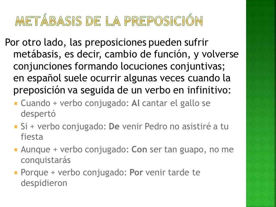 Metábasis de la preposición