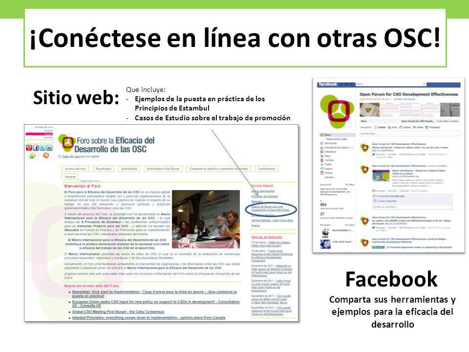 ¡Conéctese en línea con otras OSC!