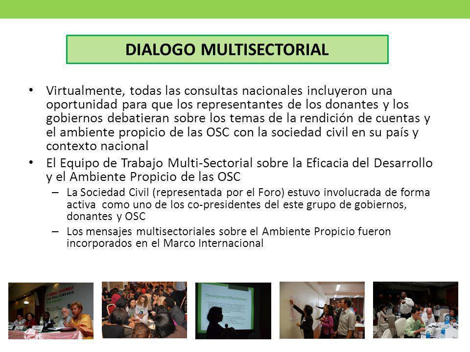 DIALOGO MULTISECTORIAL