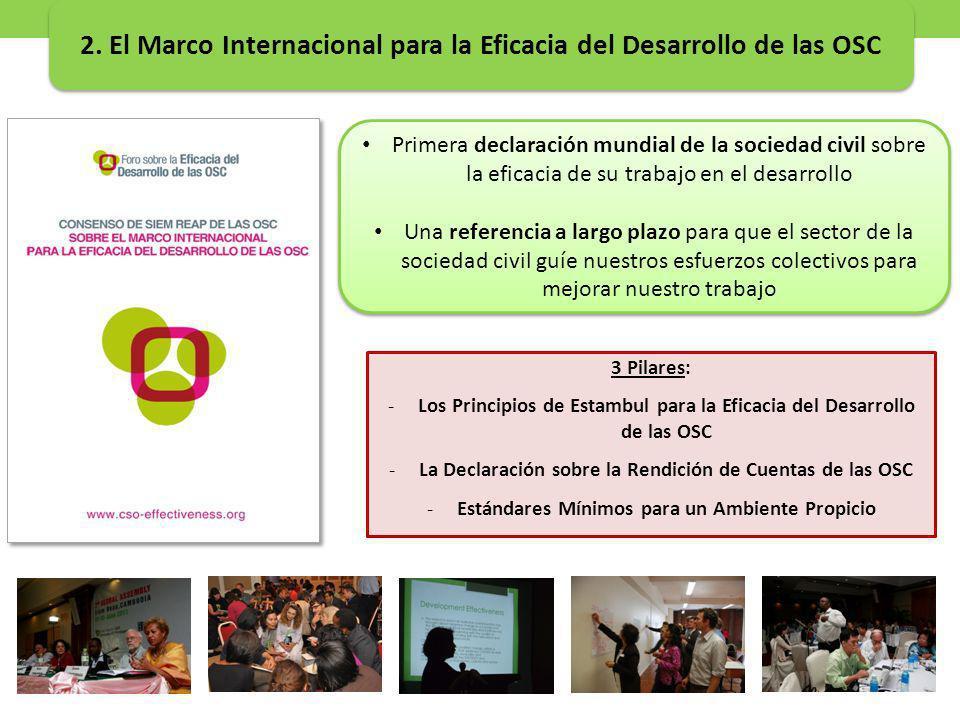 2. El Marco Internacional para la Eficacia del Desarrollo de las OSC