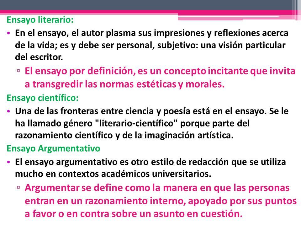 Ensayo literario:
