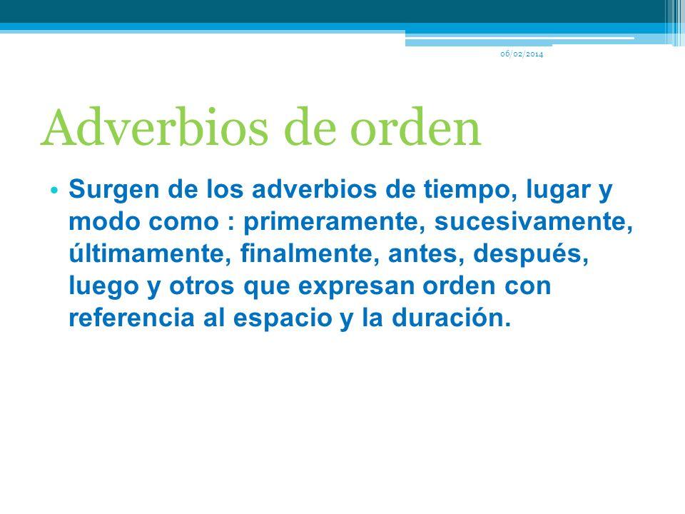 24/03/2017 Adverbios de orden.