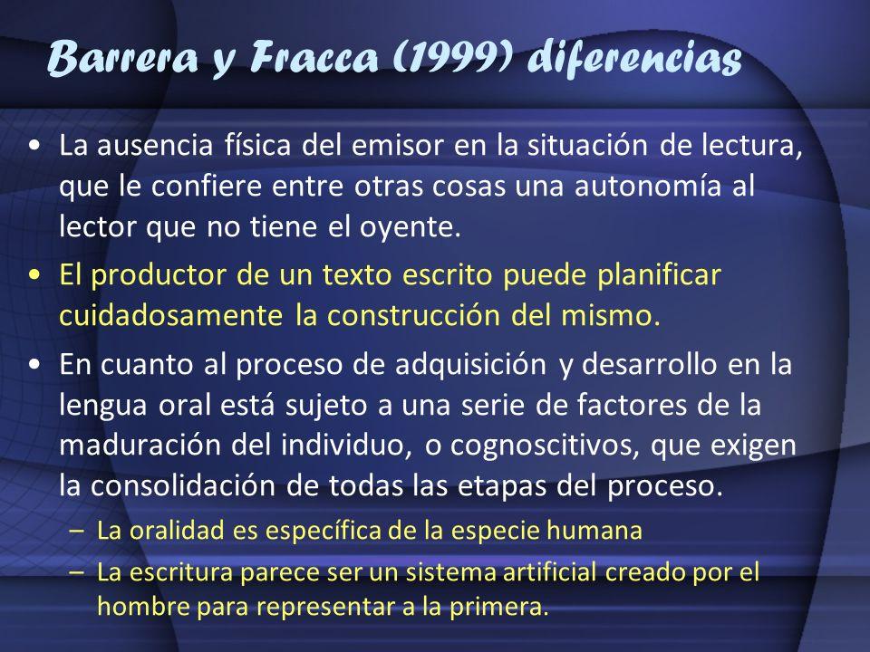 Barrera y Fracca (1999) diferencias