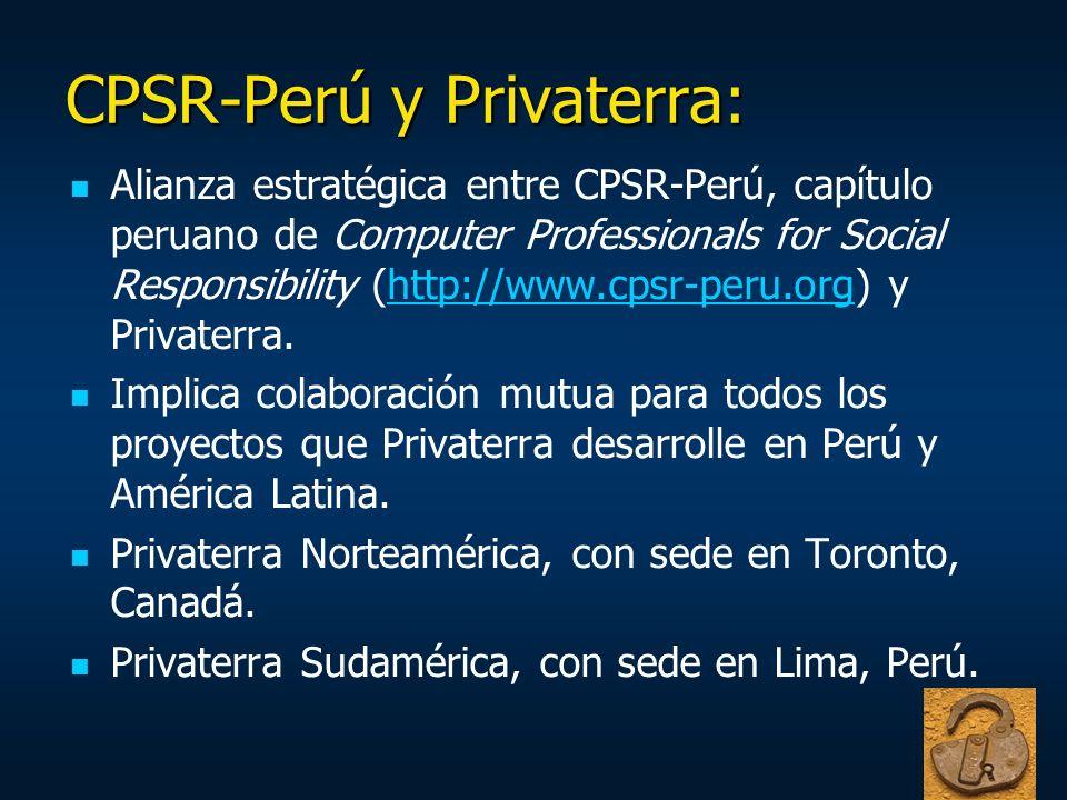 CPSR-Perú y Privaterra: