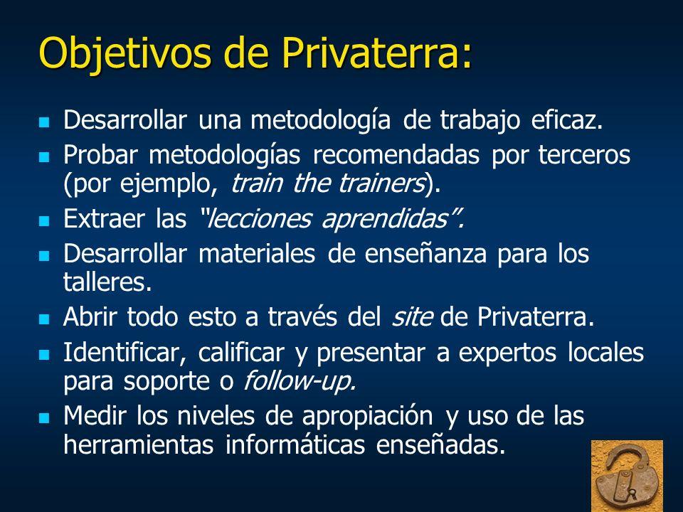Objetivos de Privaterra: