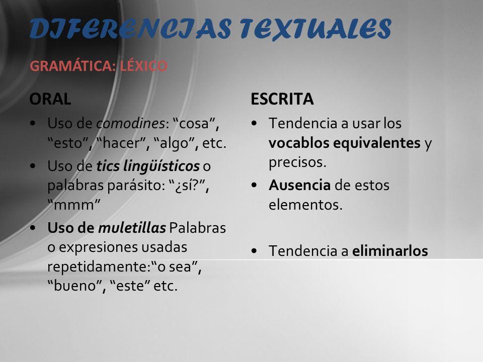 DIFERENCIAS TEXTUALES