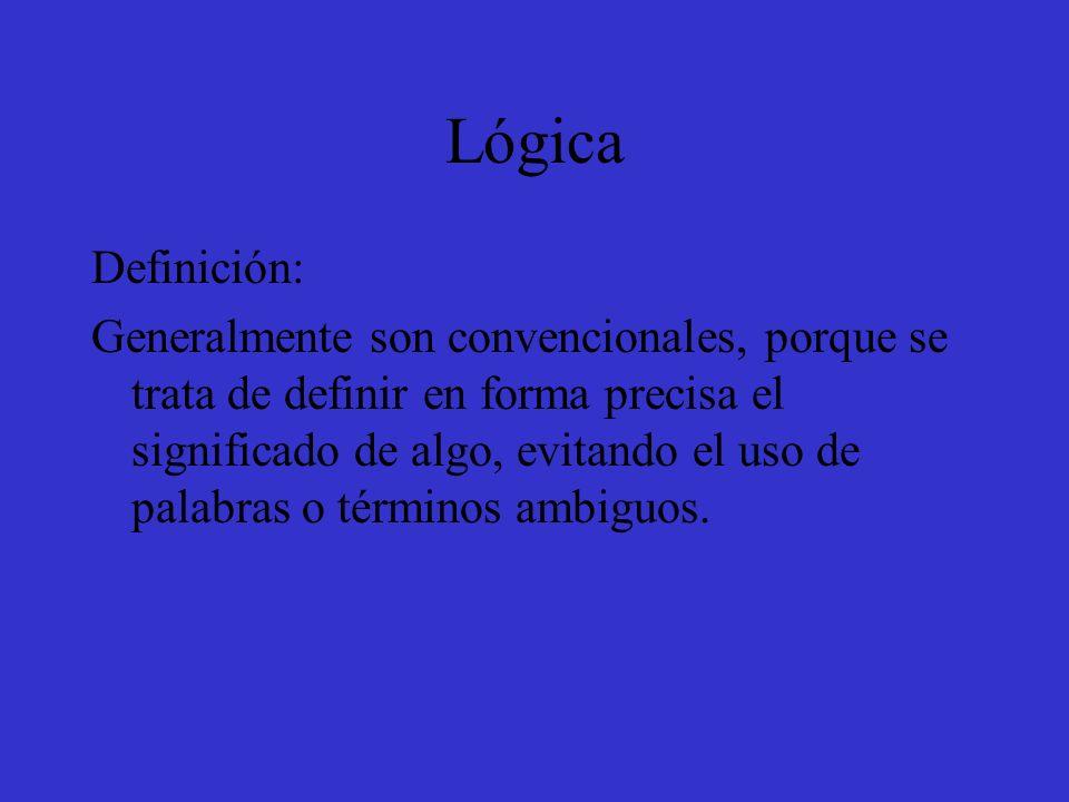 Lógica Definición: