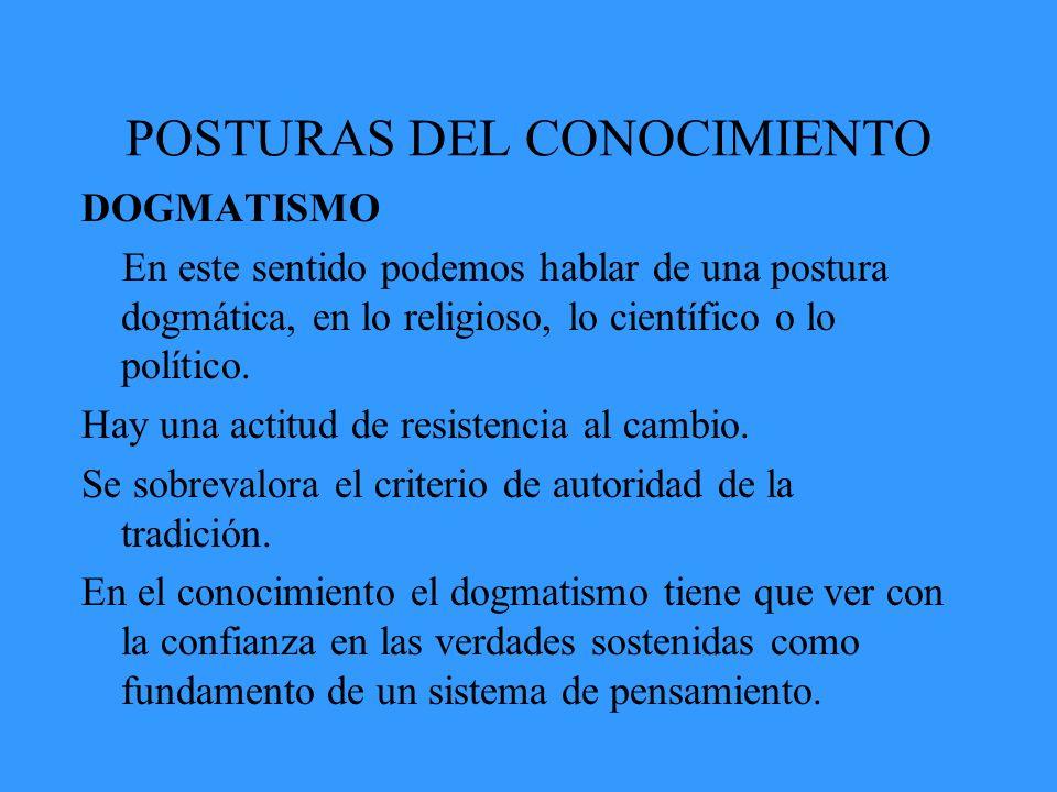 POSTURAS DEL CONOCIMIENTO