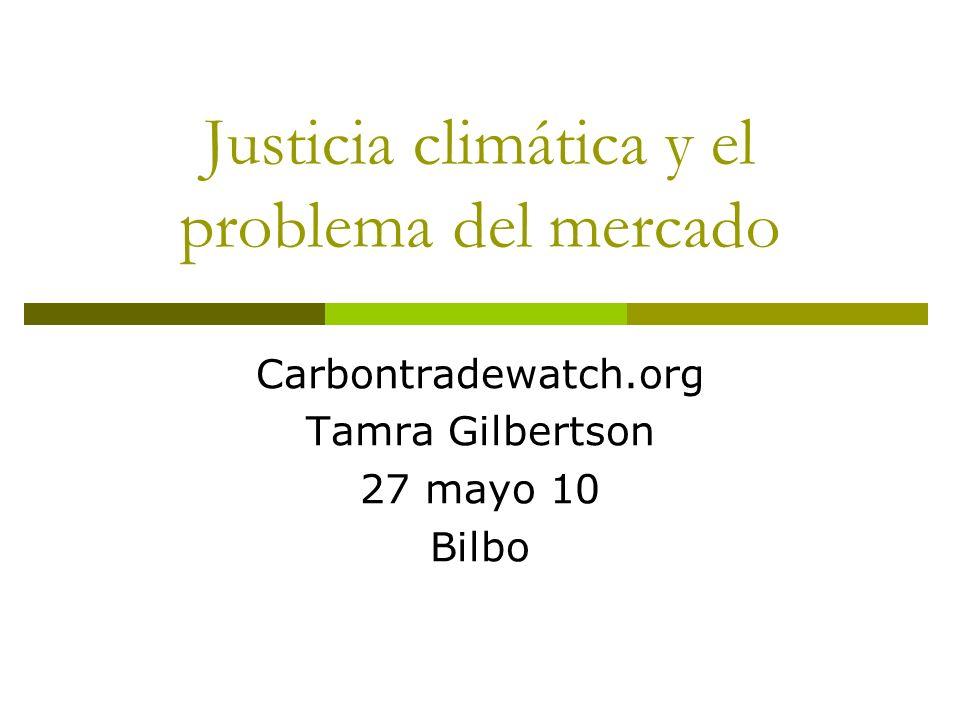 Justicia climática y el problema del mercado