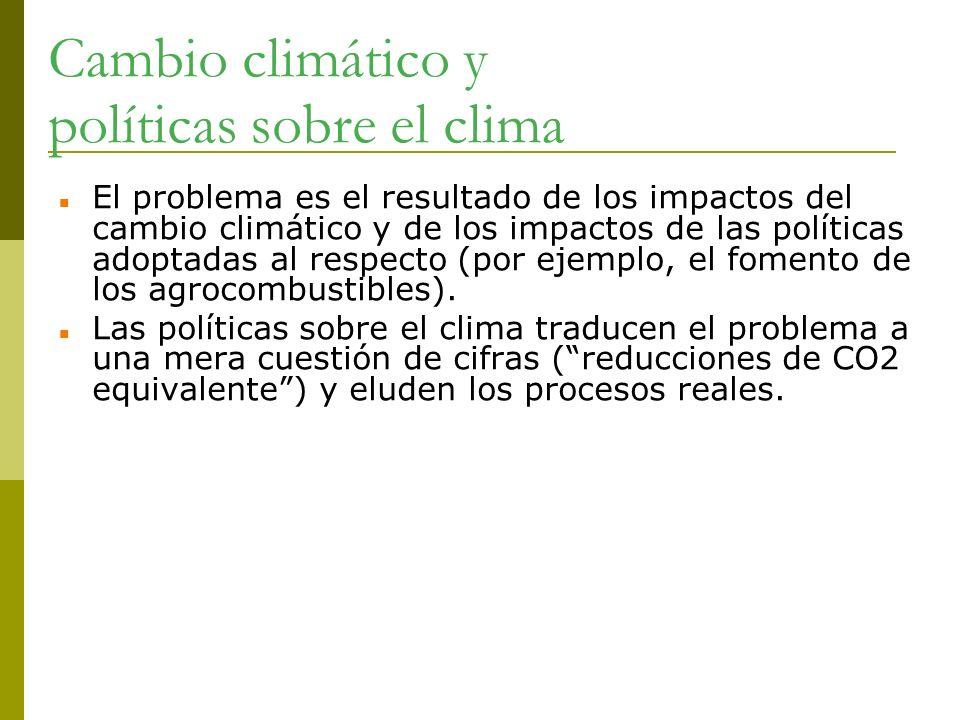 Cambio climático y políticas sobre el clima