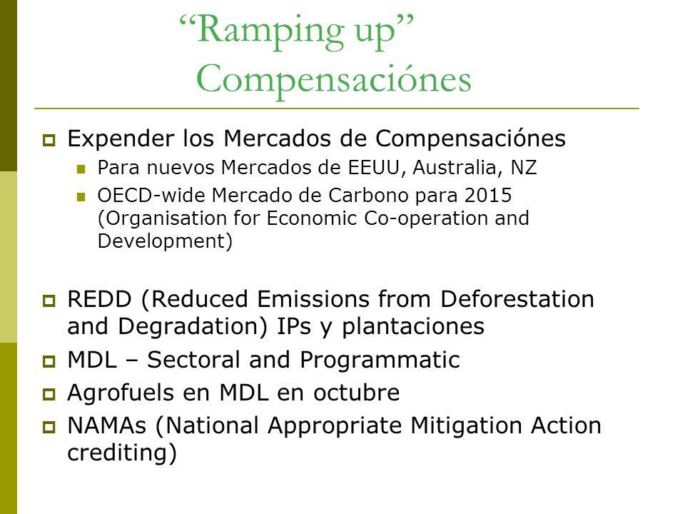 Ramping up Compensaciónes