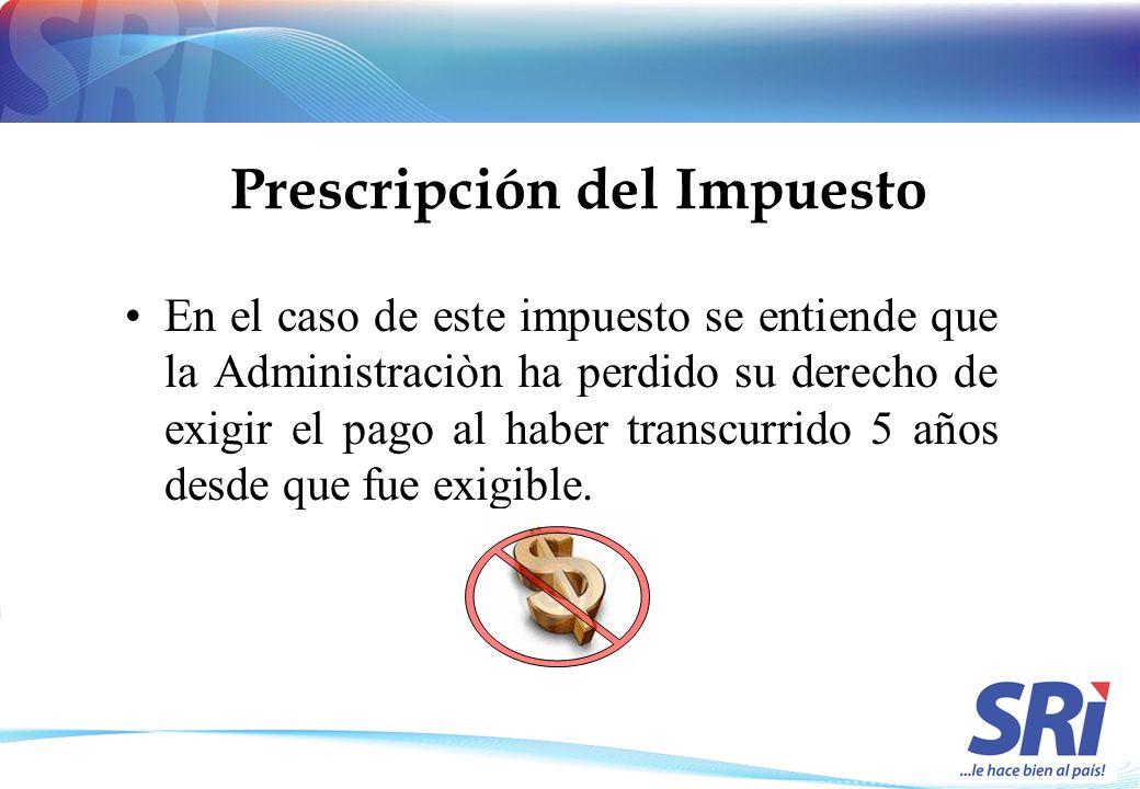 Prescripción del Impuesto