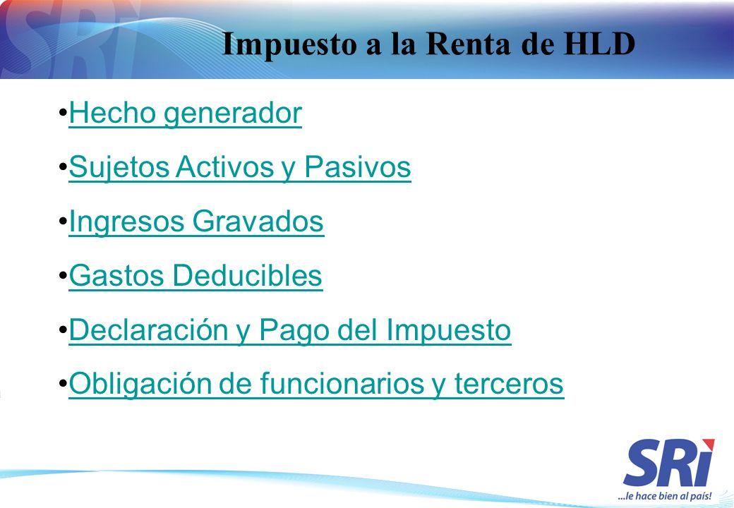 Impuesto a la Renta de HLD