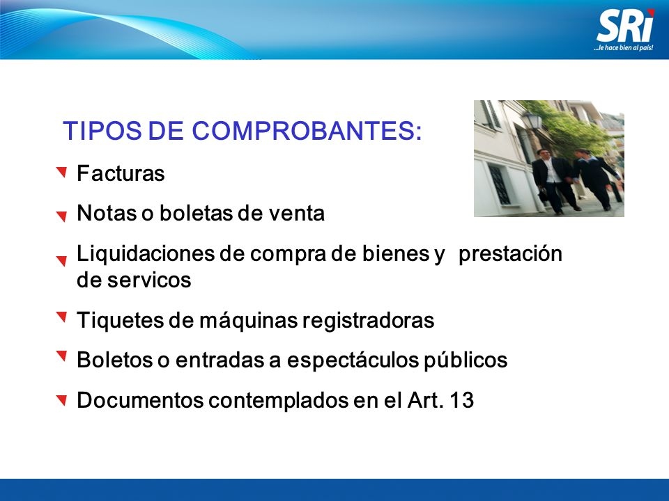TIPOS DE COMPROBANTES: