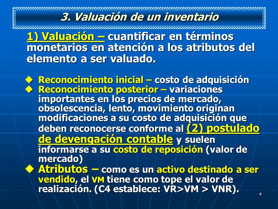 3. Valuación de un inventario