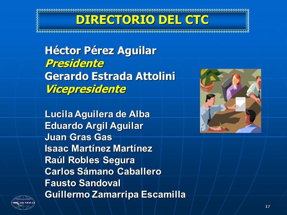DIRECTORIO DEL CTC Héctor Pérez Aguilar Presidente
