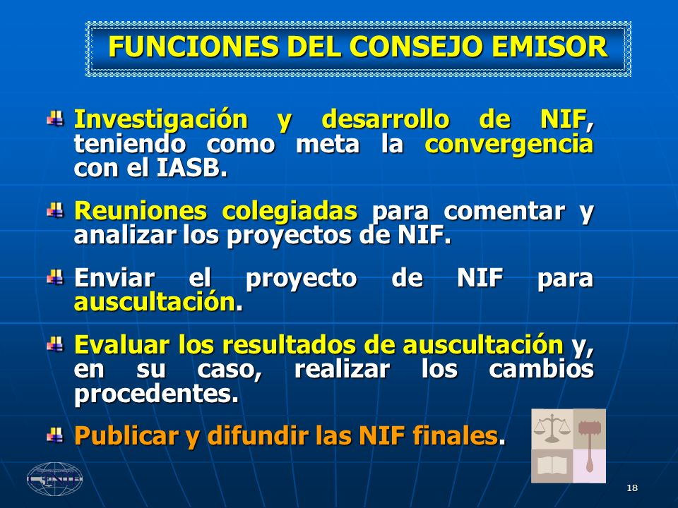 FUNCIONES DEL CONSEJO EMISOR