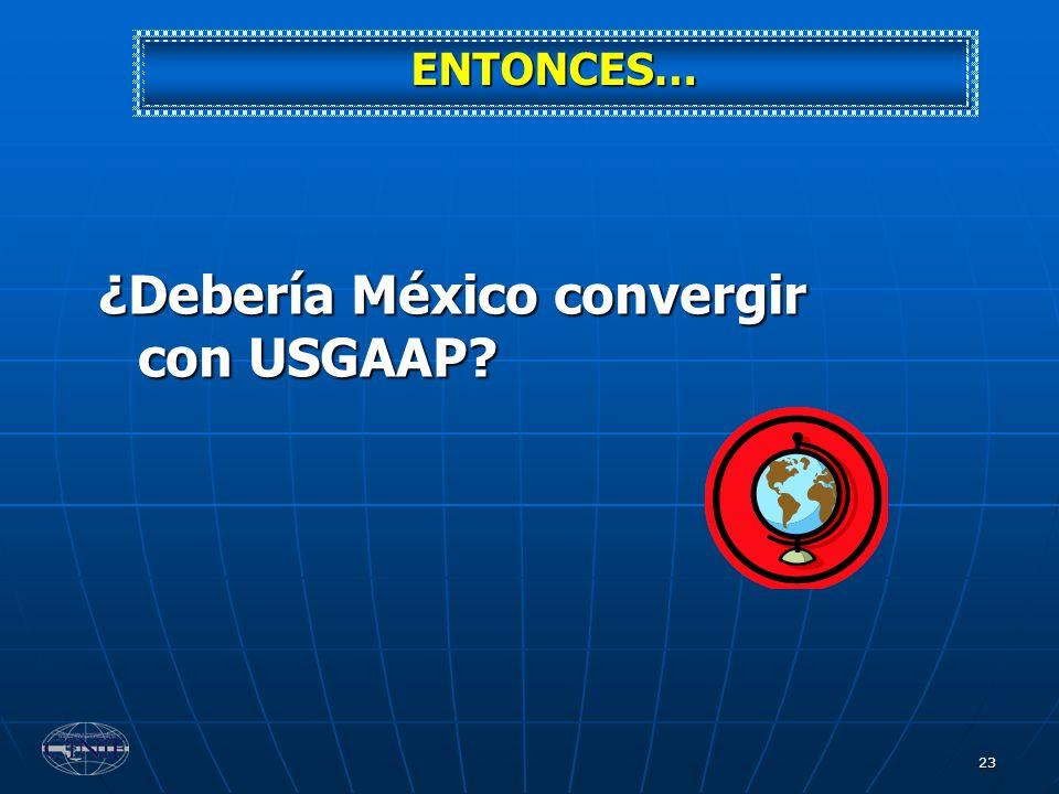 ¿Debería México convergir con USGAAP
