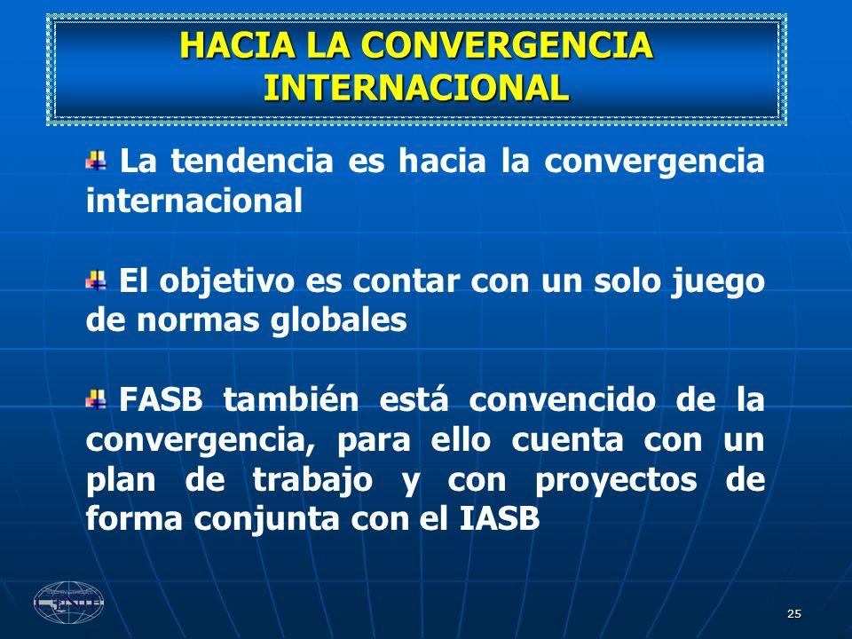 HACIA LA CONVERGENCIA INTERNACIONAL