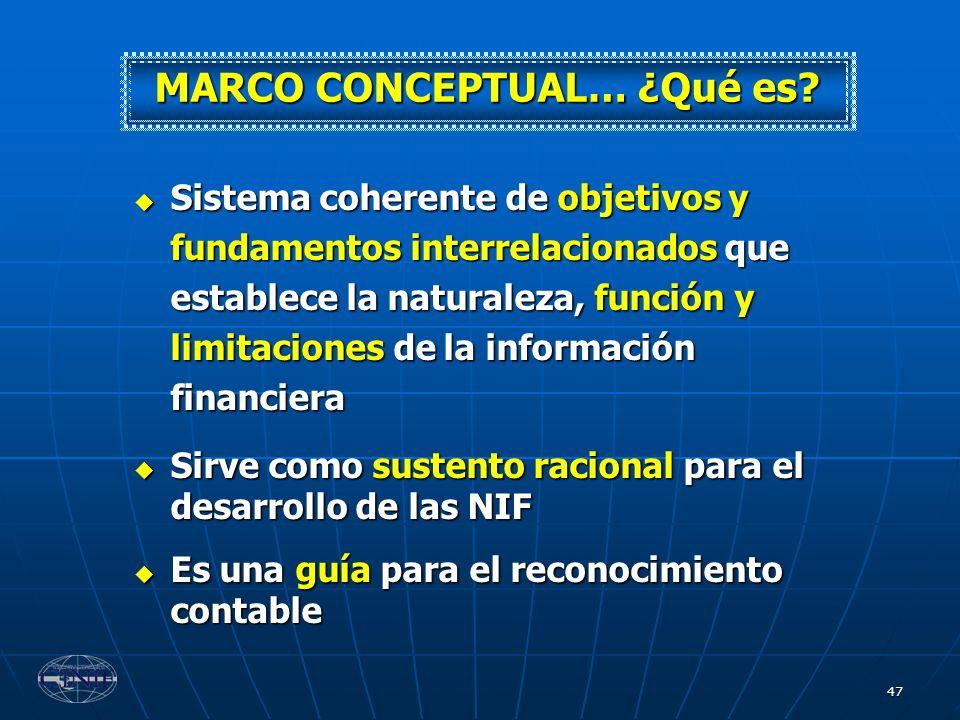 MARCO CONCEPTUAL… ¿Qué es