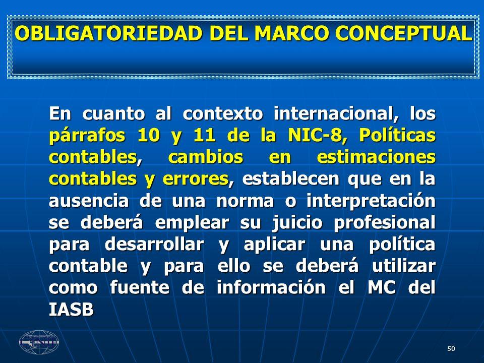OBLIGATORIEDAD DEL MARCO CONCEPTUAL