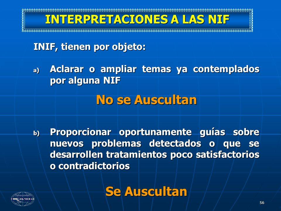 INTERPRETACIONES A LAS NIF