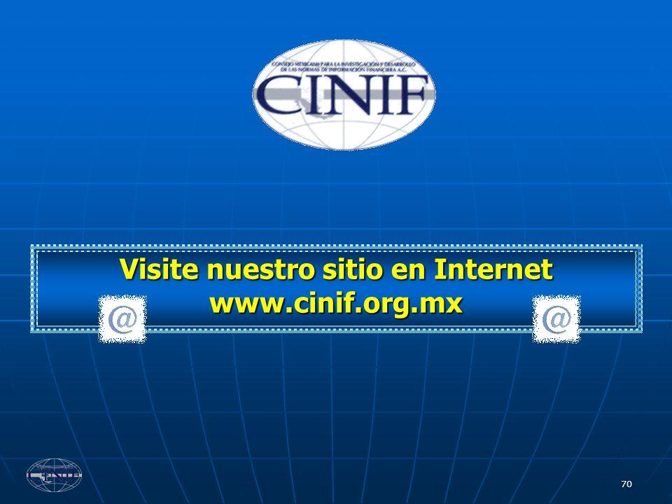 Visite nuestro sitio en Internet www.cinif.org.mx