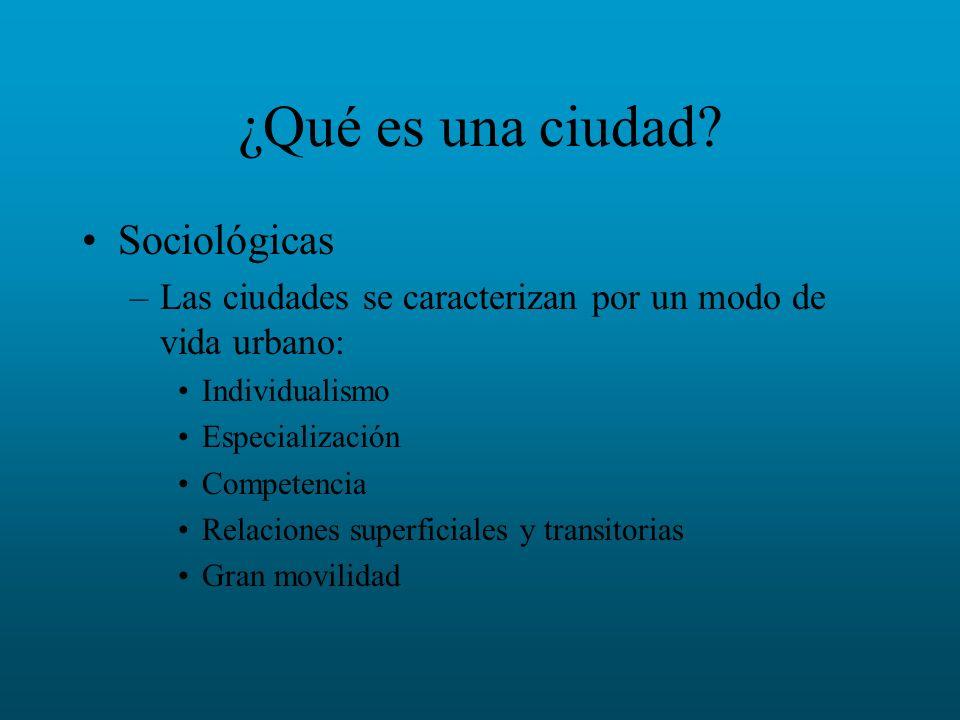 ¿Qué es una ciudad Sociológicas