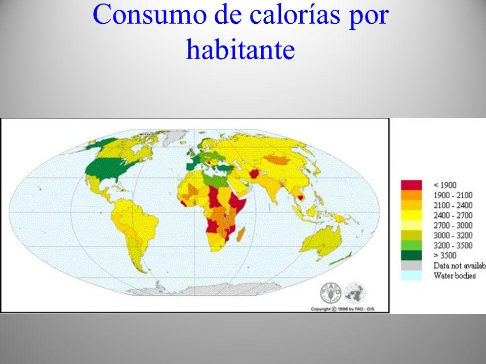 Consumo de calorías por habitante