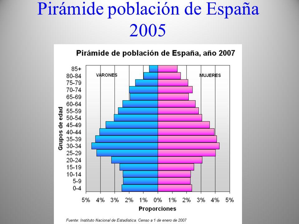 Pirámide población de España 2005