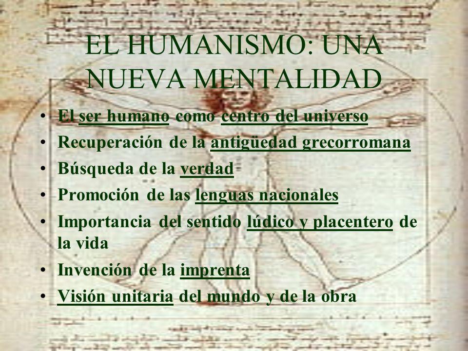 EL HUMANISMO: UNA NUEVA MENTALIDAD
