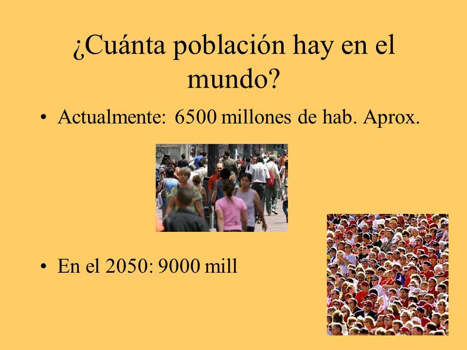¿Cuánta población hay en el mundo