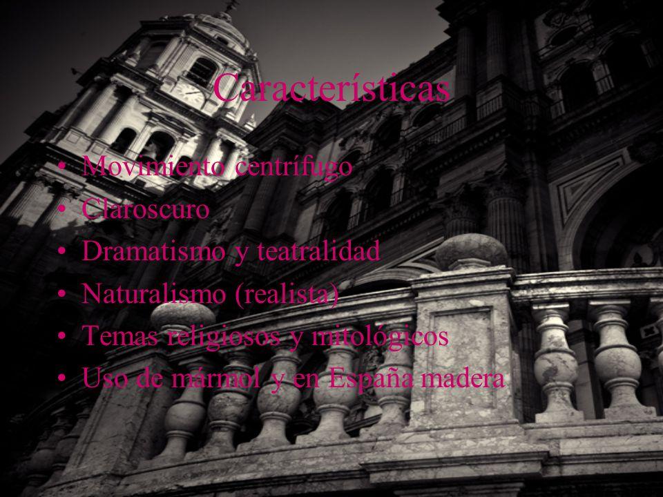 Características Movimiento centrífugo Claroscuro