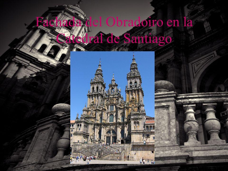 Fachada del Obradoiro en la Catedral de Santiago