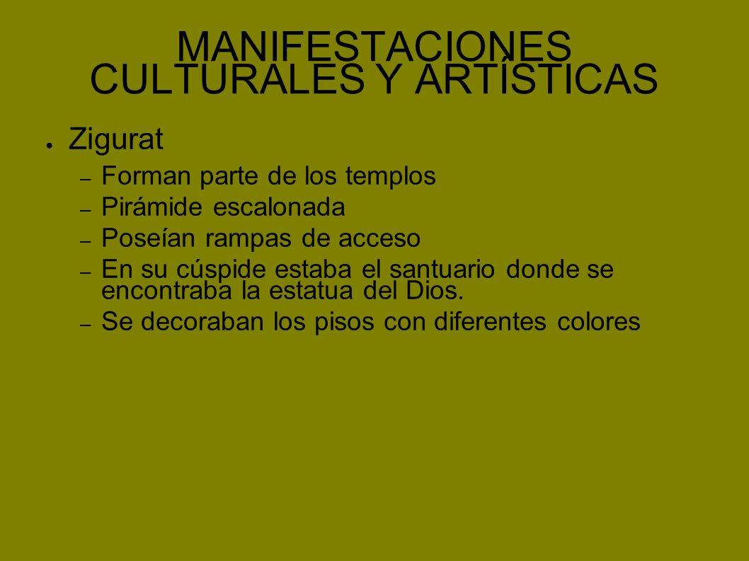 MANIFESTACIONES CULTURALES Y ARTÍSTICAS
