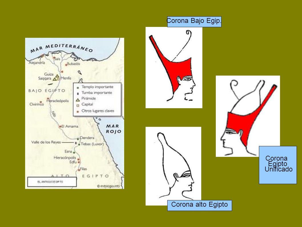 Corona Bajo Egip. Corona Egipto Unificado Corona alto Egipto