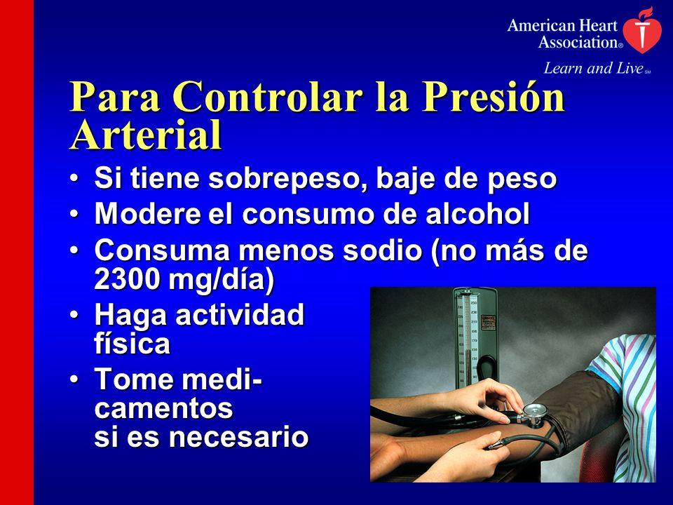 Para Controlar la Presión Arterial