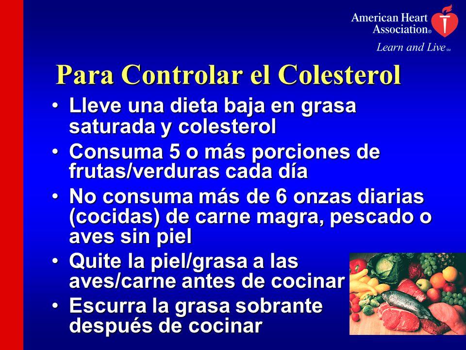 Para Controlar el Colesterol