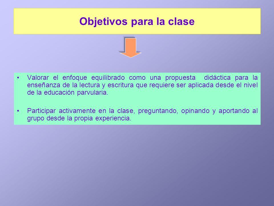 Objetivos para la clase