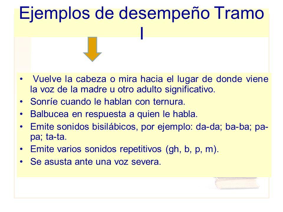 Ejemplos de desempeño Tramo I