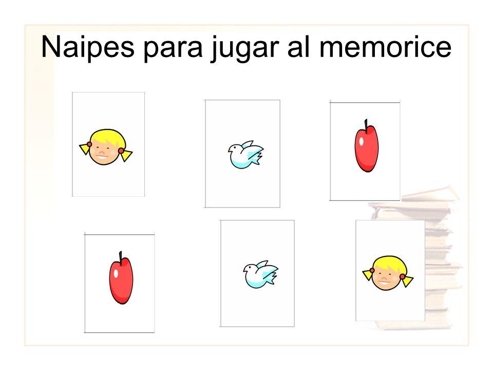 Naipes para jugar al memorice