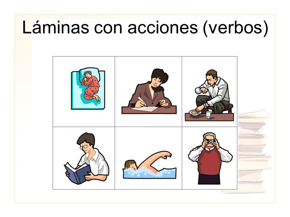 Láminas con acciones (verbos)