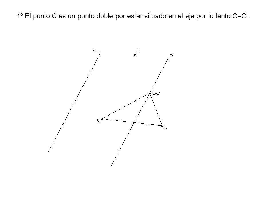 1º El punto C es un punto doble por estar situado en el eje por lo tanto C=C .