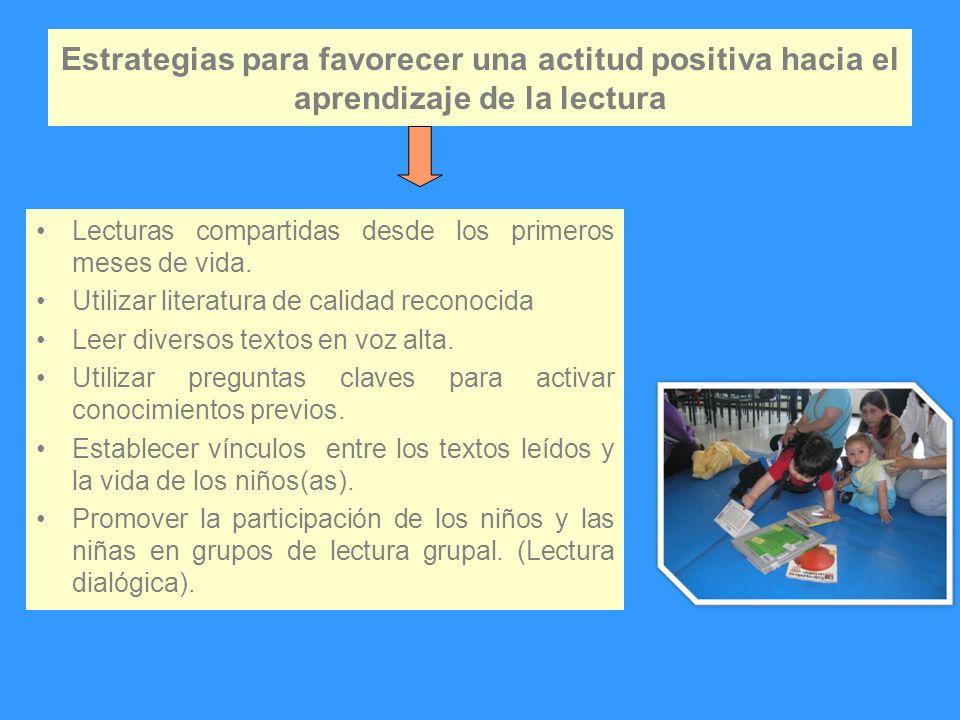 Estrategias para favorecer una actitud positiva hacia el aprendizaje de la lectura