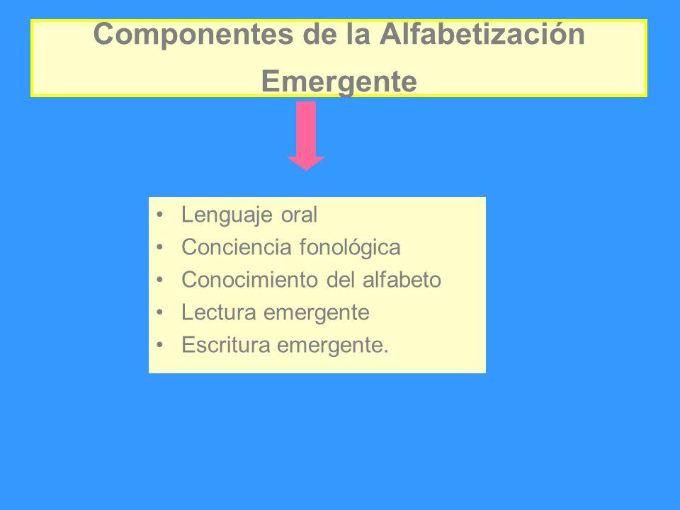 Componentes de la Alfabetización Emergente