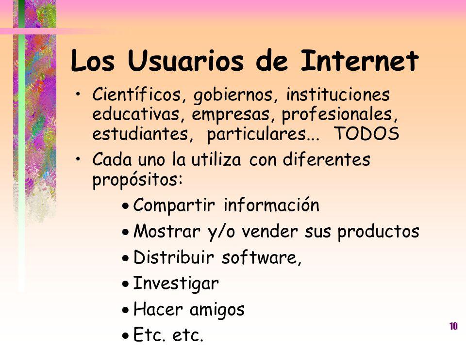 Los Usuarios de Internet
