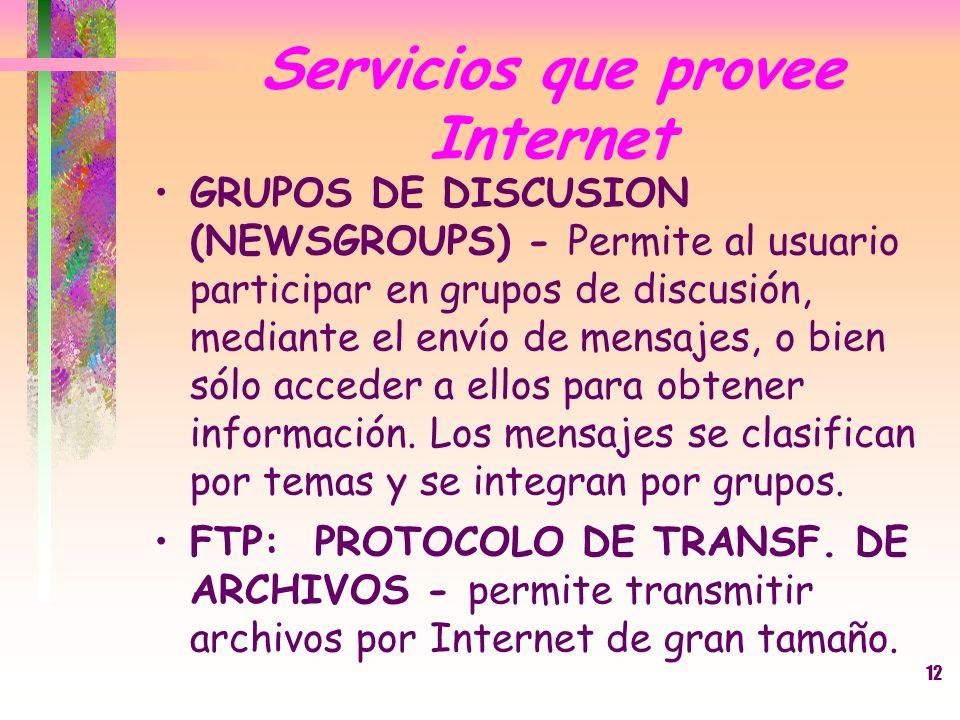Servicios que provee Internet